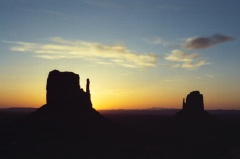 Monument Valley sunrise buttes