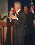 Bill Clinton, at a Denver fundraiser, October, 2000