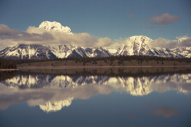 TETONS REFLECTED IN THE RIVER