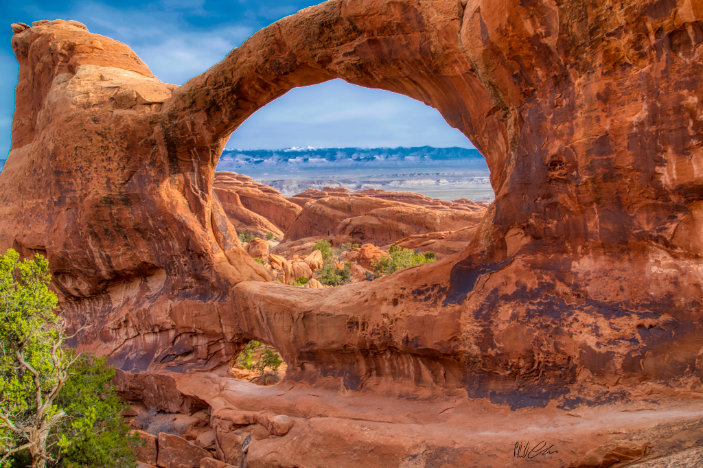 beautiful red natural stone Double Arch